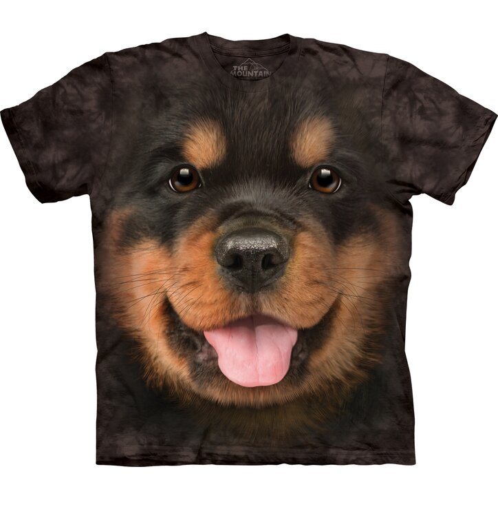 Black T-shirt Rottweiler Puppy