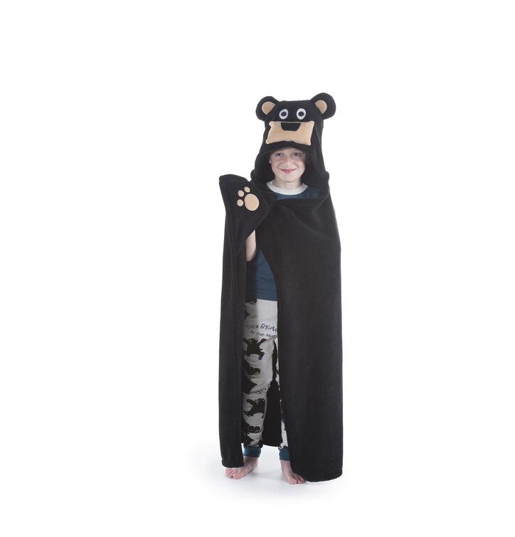 Kids Hooded Blanket Bear Dedoles