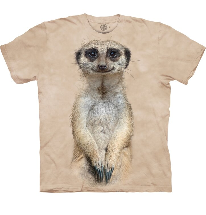 Kids' T-shirt with Short Sleeve Meerkat Gaze