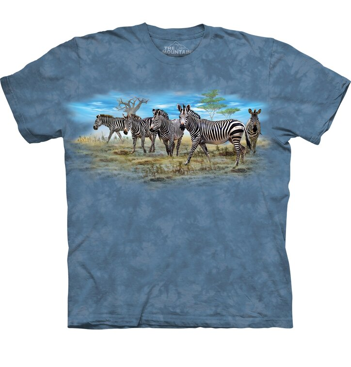 T-shirt with Short Sleeve Zebras