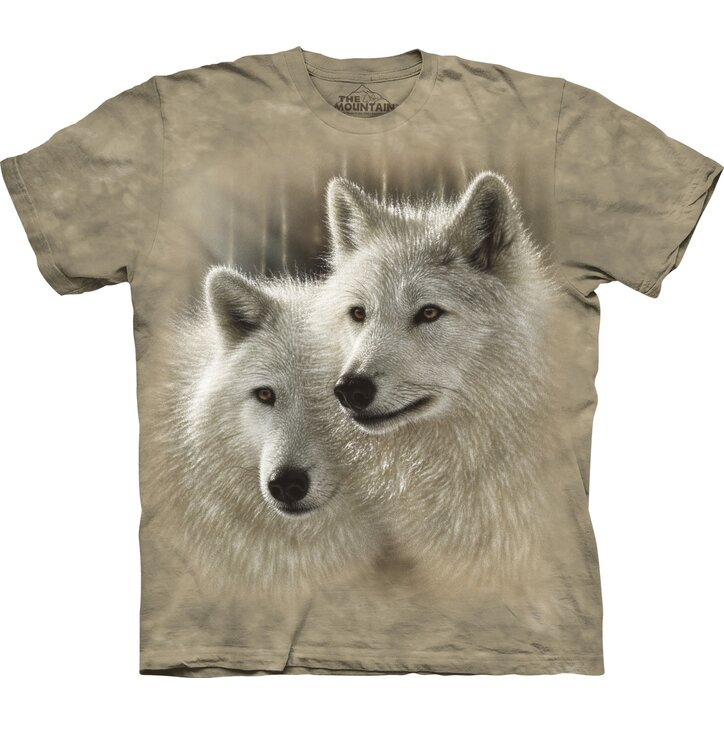 T-shirt with Short Sleeve Wolf Couple