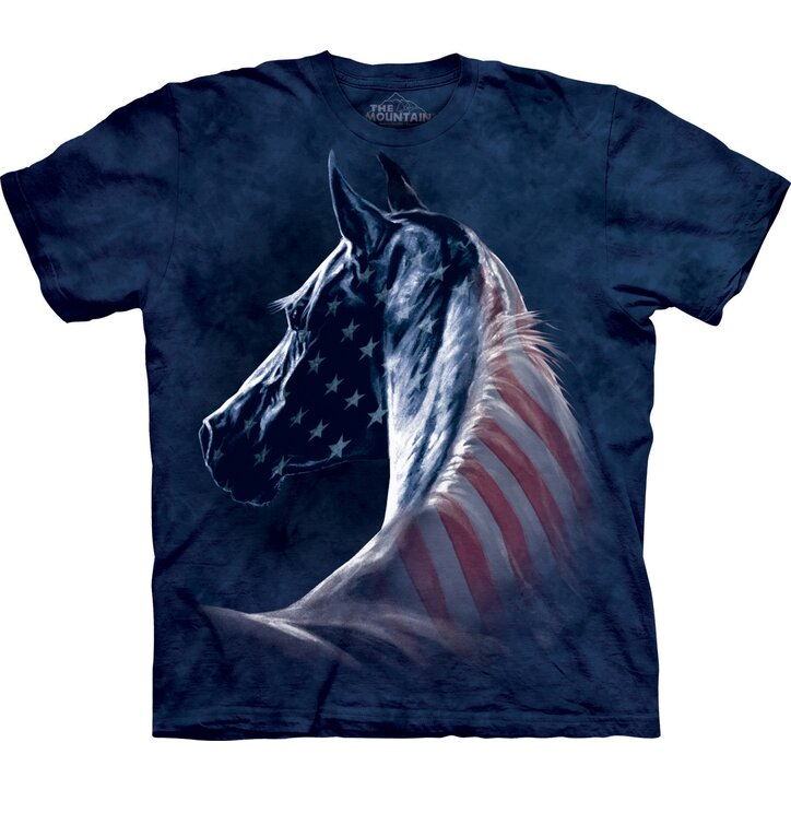 Patriotic Horse Head Adult