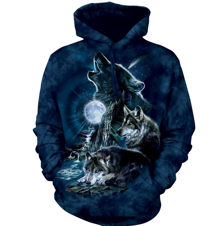 Hoodie Wolves Howling at Moon