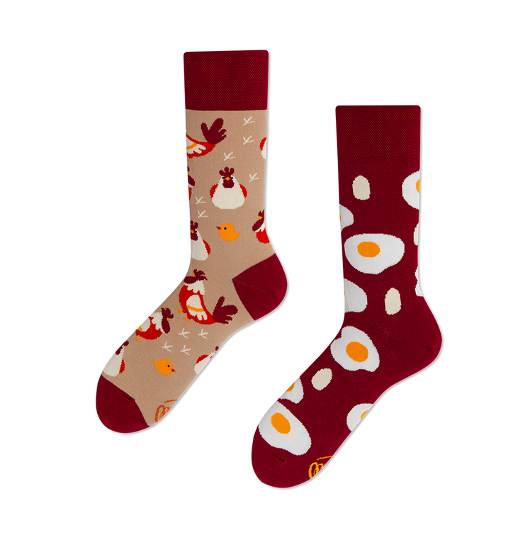 Funny Socks - Chicken and Egg