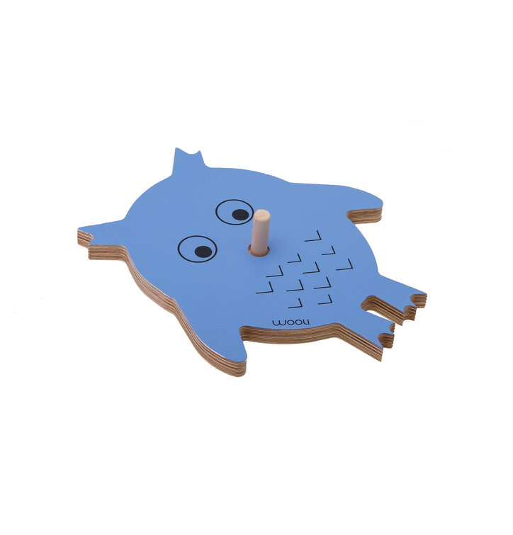 Coat Rack Owl VICKY - blue