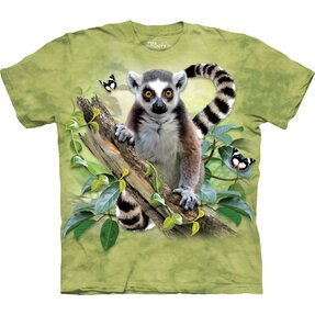 T-shirt Curious Lemur