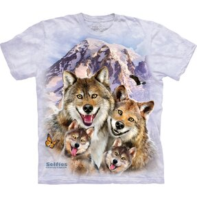 T-shirt Cheerful Wolf Family
