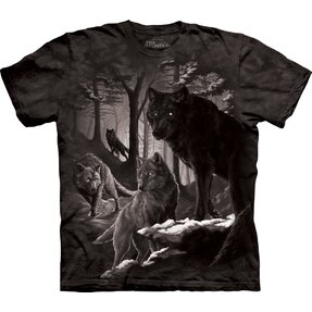 T-shirt Darkness with Wolves