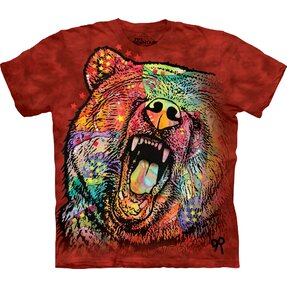 T-shirt Colourful Furious Bear