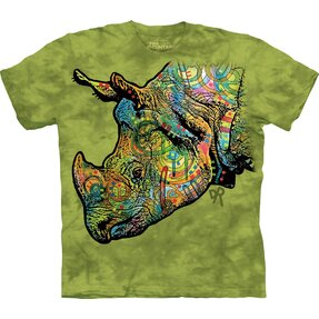 T-shirt Colourful Rhino