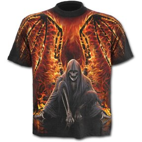 T-Shirt Black Flaming Wings