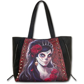 Black Shoulder Bag - Queen of Death