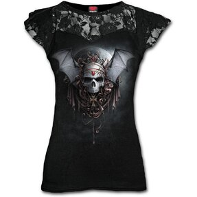 Ladies' Lace T-shirt Dark Sign