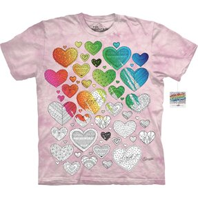 Mandala Colouring T-shirt Hearts