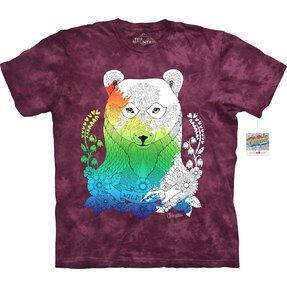 Mandala Colouring T-shirt Bear