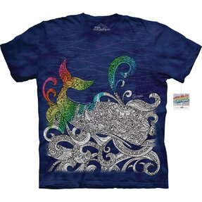 Mandala Colouring T-shirt Whale