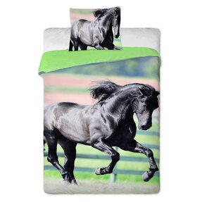 Photo Bedding Black Horse