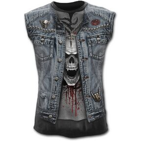Men's Tank Top with Design Denim Vest