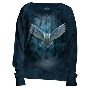 Ladies' Blue Sweatshirt Magical Owl