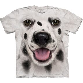 White T-shirt Dalmatian Puppy
