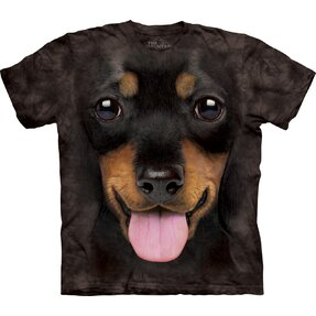Black T-shirt Dachshund Puppy