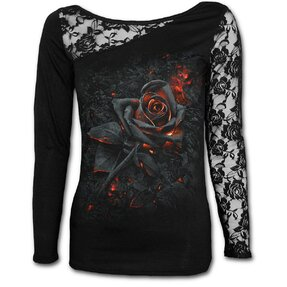Ladies' Lace T-shirt with design Burnt Rose