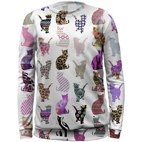 Kids' Sweatshirt Patterned Cats