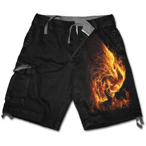 Men's Shorts with design Enemies in Fire