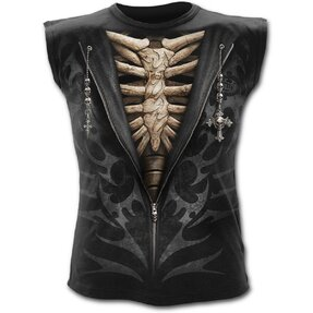 Men's Tank Top with Design Suit of Death