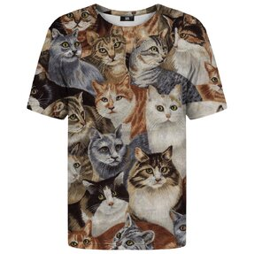 T-shirt with Short Sleeve Lots of Cats