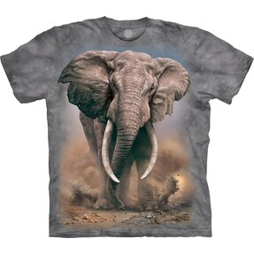 Kids' T-shirt with Short Sleeve Furious Elephant