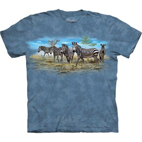 Kids' T-shirt with Short Sleeve Zebras