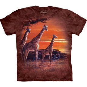 Kids' T-shirt with Short Sleeve Giraffes in Savannah