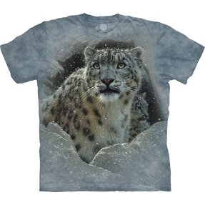 Kids' T-shirt with Short Sleeve Snow Leopard