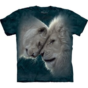 Kids' T-shirt with Short Sleeve Lion Love