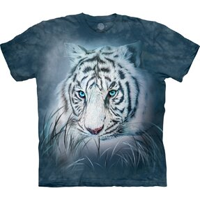 Kids' T-shirt with Short Sleeve White Tiger Gaze