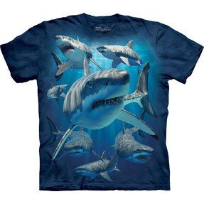 Kids' T-shirt with Short Sleeve Aggressive Sharks