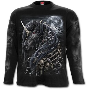 Men's T-shirt with Long Sleeve Dark Unicorn