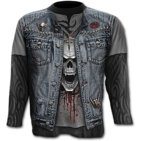 Long Sleeve Plus Size Denim Vest