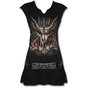 Mini Dress with design Dragon Mask
