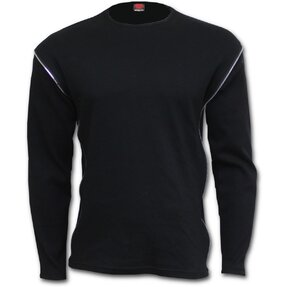 Men's Zip T-shirt Long Sleeve Basic