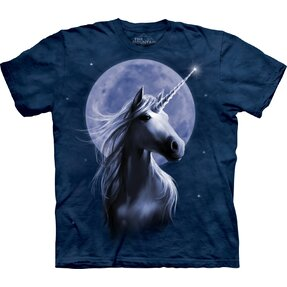 T-shirt with Short Sleeve Moonlit Unicorn