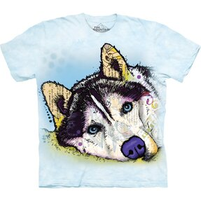 T-shirt with Short Sleeve Russo Siberian Husky