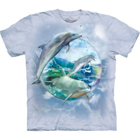 T-shirt with Short Sleeve Dolphins in Bubble