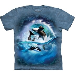 T-shirt with Short Sleeve Orcas on Wave
