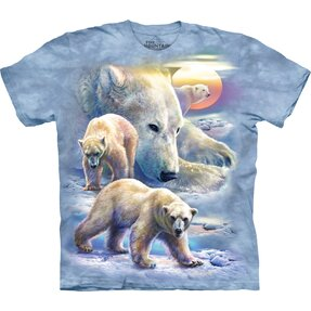 T-shirt with Short Sleeve Polar Bears