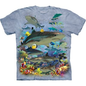 T-shirt with Short Sleeve Sea Fish