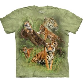 T-shirt with Short Sleeve Five Tigers