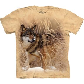 T-shirt with Short Sleeve Wolf On the Hunt