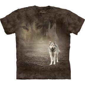 T-shirt with Short Sleeve Life of Wolf